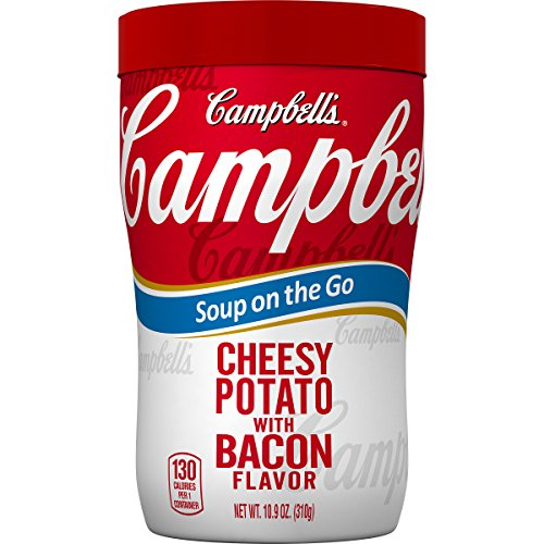 Campbell#039s Soup on the Go Cheesy Potato with Bacon Flavor 109 Ounce Pack of 8