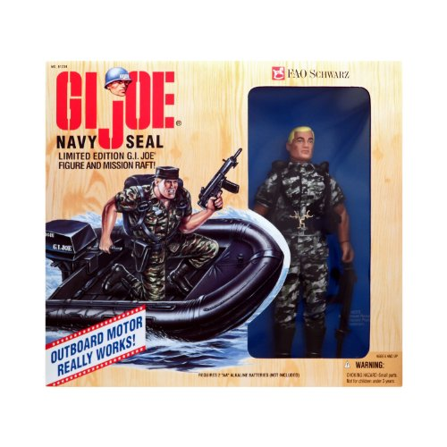 G.I. Joe Navy Seal and Mission Raft FAO Schwarz Exclusive - Backpack Gi Joe Weapon