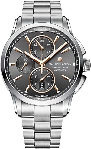 Maurice Lacroix Pontos Chronograph Automatic Watch, ML 112, Day, Grey, Bracelet