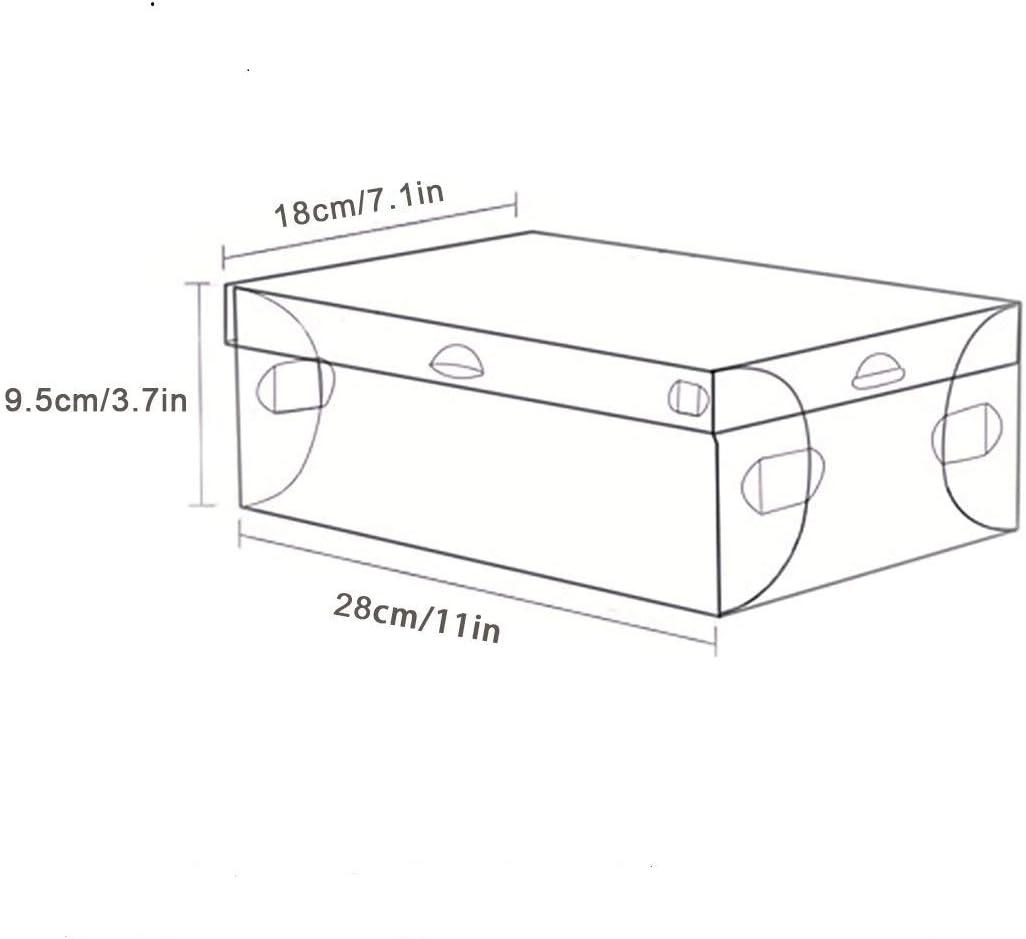 PERFETSELL 12 STK Schuhboxen Transparent Schuhe Box Plastik Schuhaufbewahrung Box Stapelbar Aufbewahrungsbox Schuhe Kunststoff Schuhorganizer Schuhkarton 28 x18x9,5 cm f/ür Schuhe bis Gr/ö/ße 42