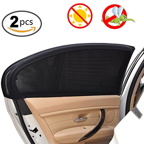 ELUTO Car Side Window Sun Shade Car Window Shades 2 pack for Baby Protect Baby Kids Pets from Sun Universal Fit for Most of Cars