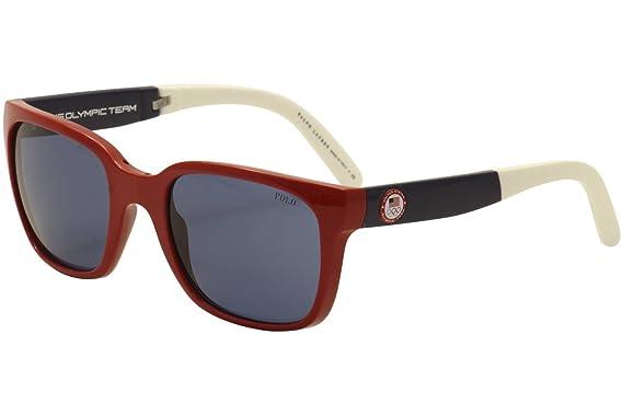 Amazon.com: Polo ph4111 de los hombres anteojos de sol, Rojo ...