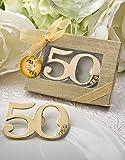 50th Birthday/Anniversary Design Golden Bottle Opener (96) For Sale