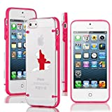 Apple iPhone 4 4s Ultra Thin Transparent Clear Hard TPU Case Cover England English Flag (Hot Pink)