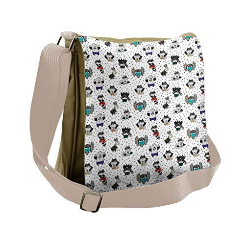 Lunarable Superhero Messenger Bag, Animals Costumes, Unisex Cross-body -