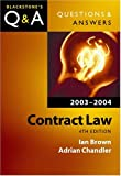 Law of Contract 2007 - 2008, Ian Brown and Adrian Chandler, 0199260893