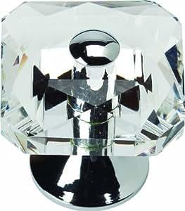 Atlas Homewares 3209-CH Boutique Crystal Polished Chrome 1.5-Inch Vintage Large Knob, Chrome