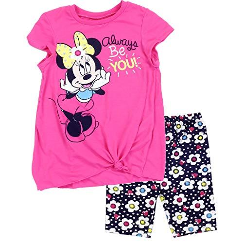 Minnie Mouse Disney Little Girls' Bike Shorts Set, Pink ()