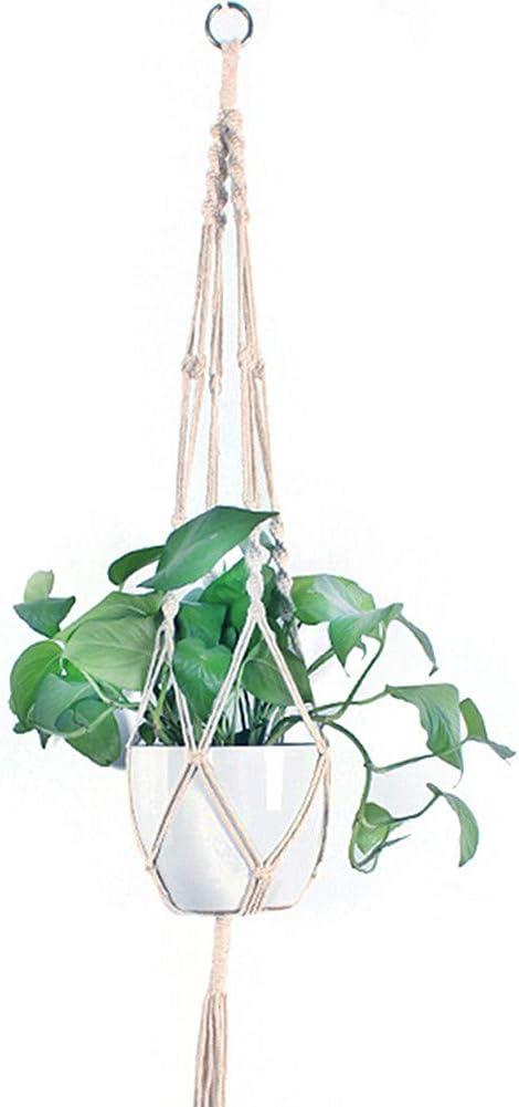 BOENTA Hogar Decoración Soporte de Maceta para balcón Accesorios Jardín decoración Cesta de Maceta de Flores Jardineras Colgantes para jardín: Amazon.es: Hogar