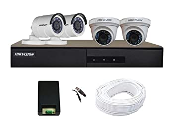 Buy Hikvision Full HD (2MP) 4 CCTV Camera & 4Ch.Full HD DVR Kit (All  Accessories) Online at Low Price in India | HIKVISION Camera Reviews &  Ratings - Amazon.in