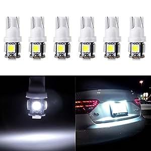 Amazon.com: cciyu Luz de matrícula, T10 W5W cuña 168 194 LED ...