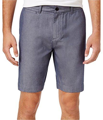 Tommy Hilfiger Mens Twill Yarn Dyed Khaki, Chino Shorts Blue 42