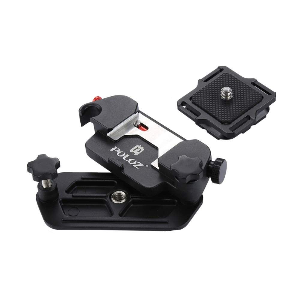 Capture Camera Clip Aluminum Alloy Quick Release Clip with Plate with 1/4 Tripod Screws for DSLR by PULUZ.
