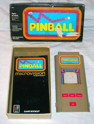 1979 Microvision Pinball Handheld Electronic Game Cartridge