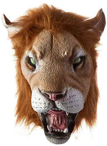 Forum Novelties Men's Deluxe Adult Latex Lion Mask, Multi Colored, One Size ()
