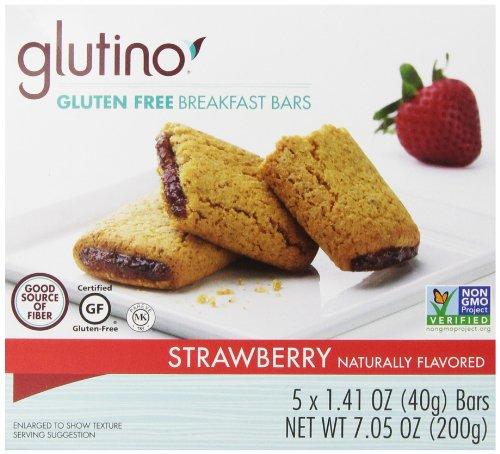 Free Glutino Crackers Gluten (Glutino Gluten Free Oven Baked Bar, Strawberry, Naturally Flavored, 5 Count)