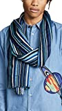 Paul Smith Men's Multi Textured Scarf, Blue, One Size