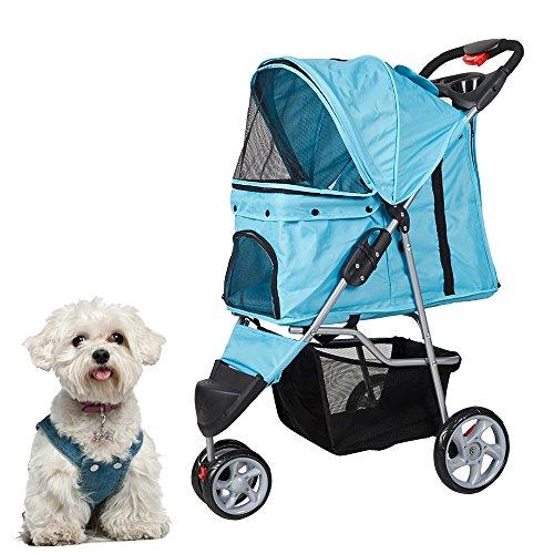KARMAS PRODUCT 3 Wheels Elite Jogger Pet Cat,Dog,Stroller Folding Travel Carrier