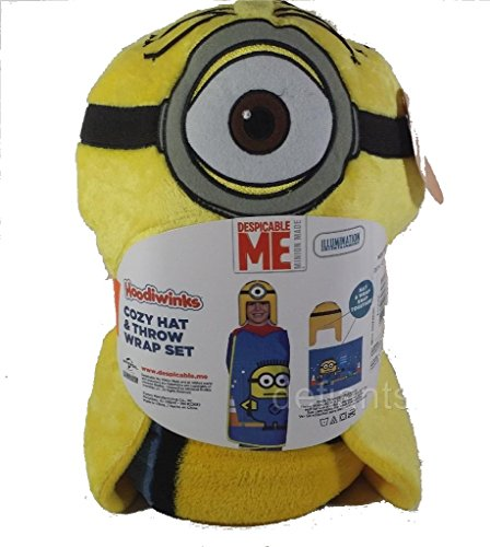 Throw Kmart (Despicable ME Minions Cozy Hat & Throw Wrap Set - Yellow)