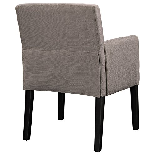 Modway Chloe Fabric Upholstered Armchair in Gray