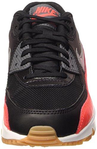 Nike Damen Wmns Air Max 90 Essential Laufschuhe mehrfarbig (Black/Dark Grey-Brght Crmsn-Sl)