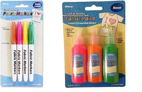 [해외]패브릭 마커 및 패브릭 페인트 2 아이템 번들/Fabric Markers and Fabric Paint 2-item bundle