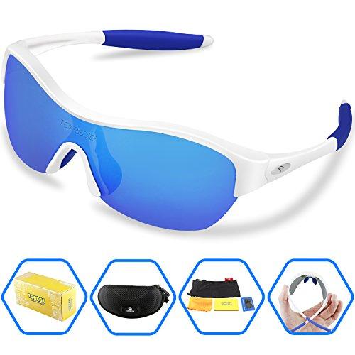 9a052c0fa091 Torege Tr90 Flexible Kids Sports Sunglasses Polarized Glasses for Junior Boys  Girls Age 3-15 Trk001