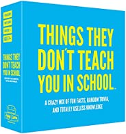 Hygge Games Things They Don't Teach You in School Party Trivia Game Blue,