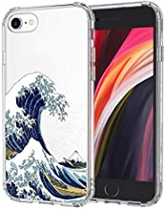 MOSNOVO iPhone SE 2020 Case, iPhone 8 Case, iPhone 7 Case, Tokyo Wave Clear Design Printed Transparent Hard Ba