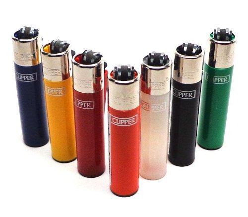 bundle-of-6-original-clipper-lighters-official-clipper-lighters-with-removable-flint-housing-assorte