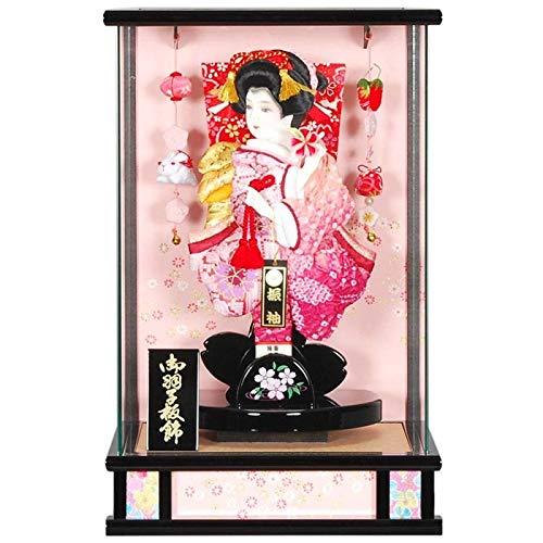 羽子板 ケース入り【小桜舞】(こざくらまい) 10号 高さ47cm[sb-23-10] 黒塗 正月飾り   B07J1F45R2