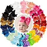 Hair Bow Headband Baby Newborn Infant Girls Toddler 6 inches 20 PCS Elastic
