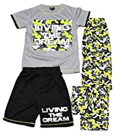 Big Boys 3 pc Sleep Set camouflage Print in Blue And Grey Size 8 to 18
