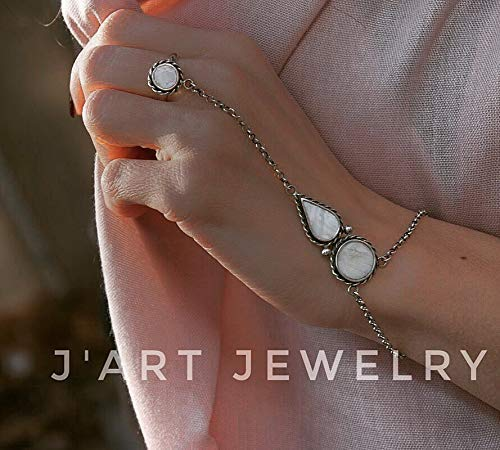 sterling silver slave braslet,slave bracelet, statement bracelet, statement slave bracelet, bracelet with ring, boho slave ()