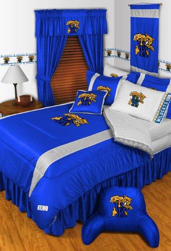 Kentucky Wildcats Jersey Comforter (Kentucky Wildcats 7 Pc FULL Comforter Set (Comforter, 1 Flat Sheet, 1 Fitted Sheet, 2 Pillow Cases, 2 Shams) SAVE BIG ON)