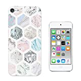 003602 - Marble Effect Pattern Abstract Design Apple ipod Touch 6 Fashion Trend CASE Gel Silicone All Edges Protection Case Cover