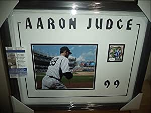 AARON JUDGE NY YANKEES SIGNED HUGE 20X24 DOUBLE MATTED & FRAMED w/ JSA COA