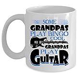 Cool Grandpas Play Guitar Coffee Mug, Some Grandpas Play Bingo Cup (Coffee Mug 15 Oz - WHITE)