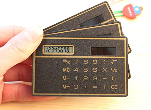king's store 8 Digits Ultra Thin Slim Mini Credit Card Design Solar Power Pocket - Stores King
