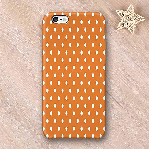 Burnt Orange No Odor Compatible with iPhone Case,Vintage Old Polka Style Dotted Graphic Design Trendy Retro Modern Decor Home Decorative Compatible with iPhone 7/8 Plus,iPhone 6/6s