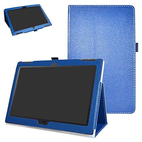 Lenovo moto tab X704A Case,Mama Mouth PU Leather Folio 2-folding Stand Cover with Stylus Holder for 10.1 Lenovo moto tab X704A / Lenovo Tab 4 10 Plus Tablet,Dark Blue