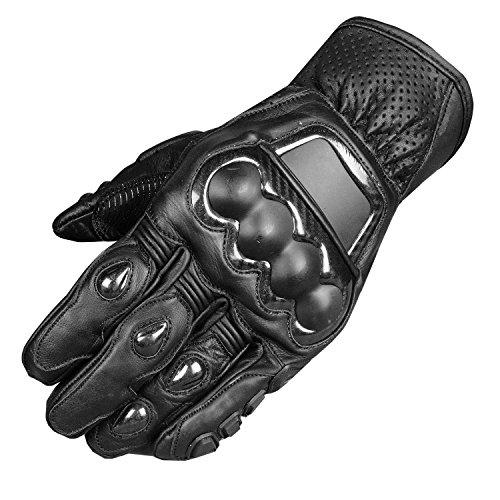 Men Protective Premium Leather Motorcycle Cruiser Street Biker Gloves S