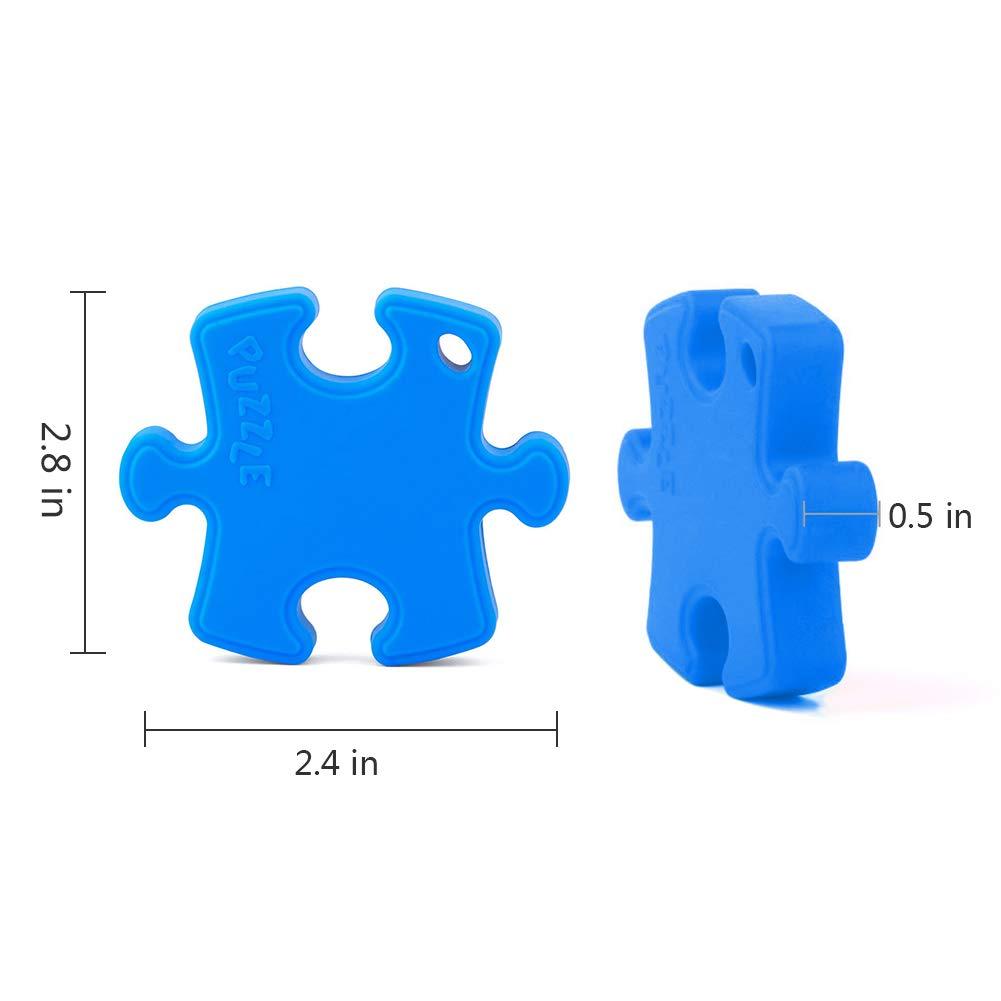 Yuccer Silicona MasticarJuguetes Sensorial Colgante Mordedor Motor Oral para Autismo Necesidades Especiales Ni/ños Adultos ADHD Amarillo Collar Mordedor