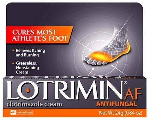 Lotrimin AF antifongique Crème pour le pied d'athlète, .85-Ounce Tubes (Pack de 2)