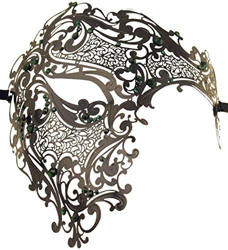 Funpa Mens Metal Mask Luxury Mask Phantom Of The Opera Half Face Mask Party (Phantom Of The Opera Costumes For Sale)