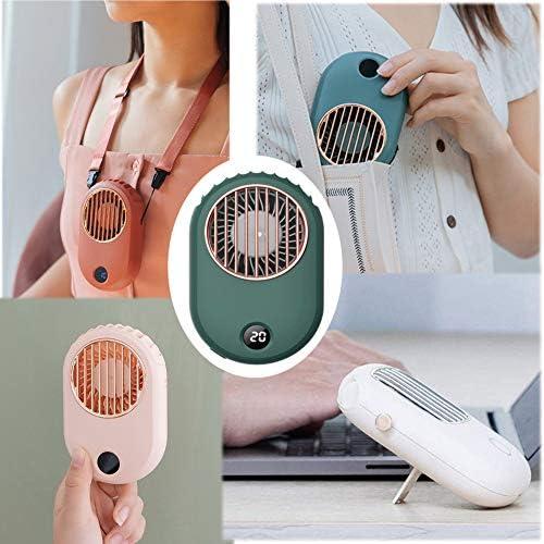 TISESIT INDOOR Mini USB Desktop Fan,Mini Ventilatore Elettrico Ventilatore Portatile Personale A 3 velocità per Auto da Viaggio per Uso Domestico,Rosa