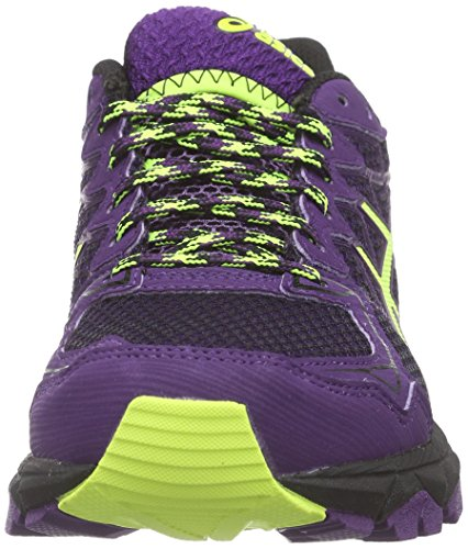 Asics Gel-Fujitrabuco 4 G-TX, Damen Traillaufschuhe Schwarz (black/flash Yellow/plum 9007)