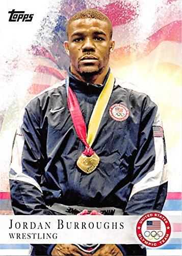8e938b10d7b10 Jordan Burroughs trading card (United States Olympic Team, Wrestling ...