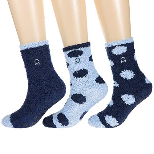 3-Pairs Womens Noble Mount Soft Anti-Skid Fuzzy Socks