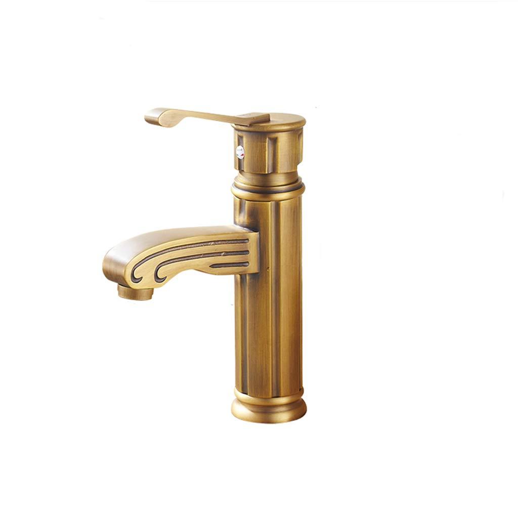 MYJ Grifo Cobre Antiguo de Cobre Grifo Europeo Retro Faucet baño Grifo del Grifo del baño Faucet (Tamaño : Short Paragraph) a22ab9
